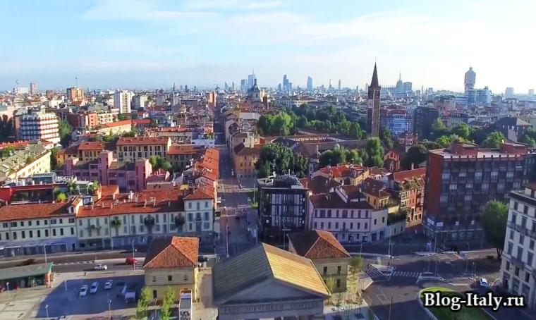 Вид на город Милан