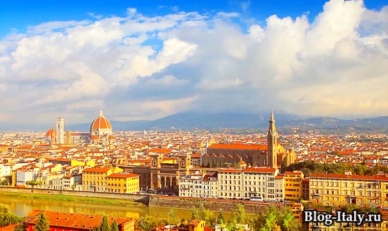 Вид на Флоренцию регион Тоскана
