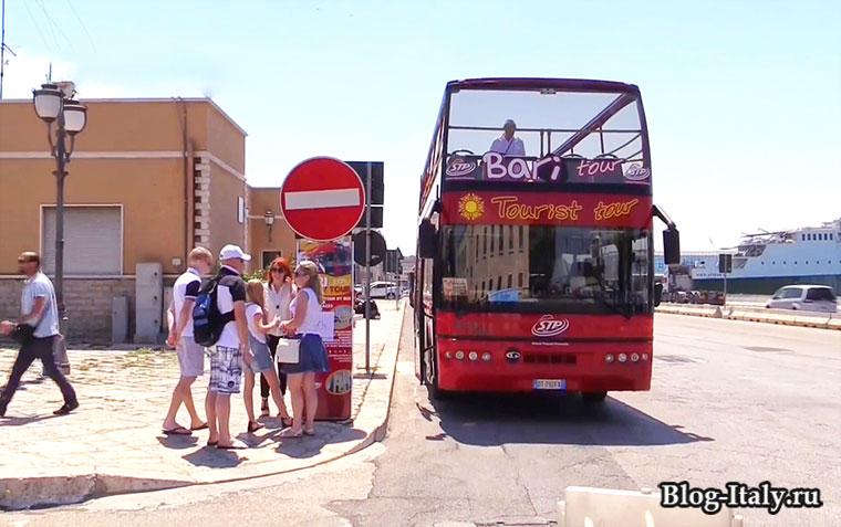 Туристический автобус Бари
