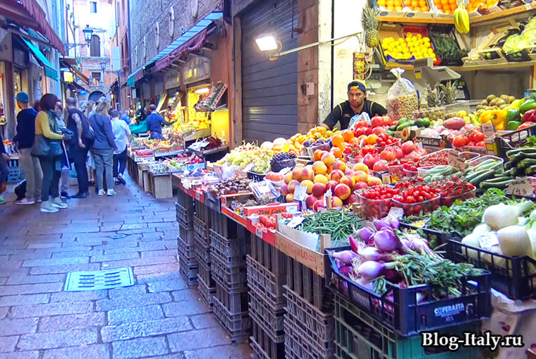 Овощной рынок в Болонье