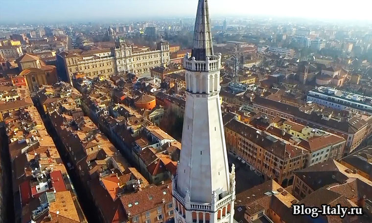 Модена вид на город сверху