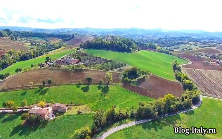 Эмилия-Романья вид на равнины
