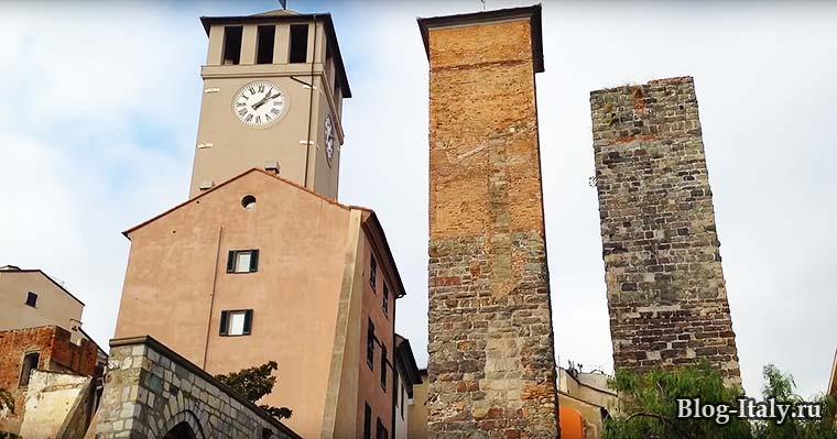 Старинные башни в Савоне