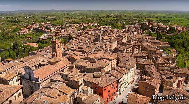 Сиена город и вид на округу