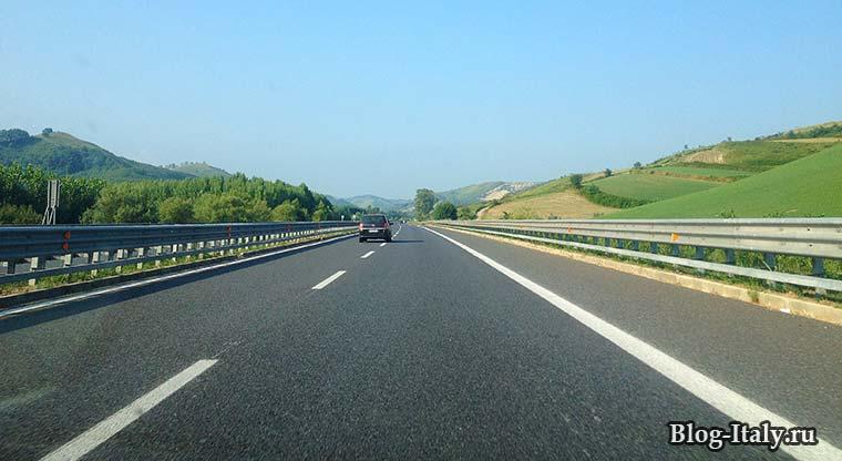 итальянская автомагистраль