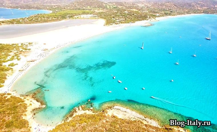 Пляжи на острове Сардиния
