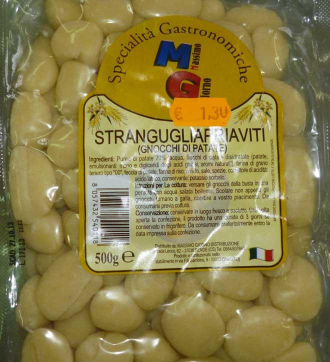 свежая паста Gnocchi di patate (картофельные нёкки или клёцки)