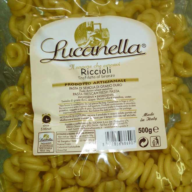 свежая паста Riccioli (риччьоли)