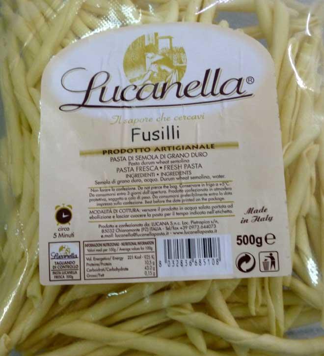 свежая паста Fusilli (фузилли)