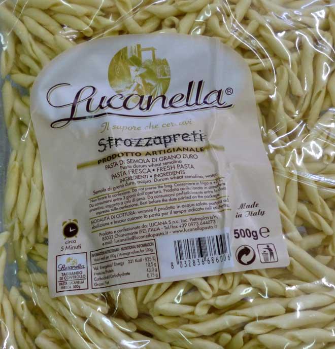 свежая паста Strozzapreti