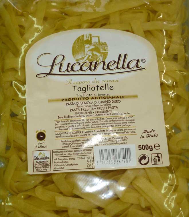 свежая паста Tagliatelle (тальятелле)