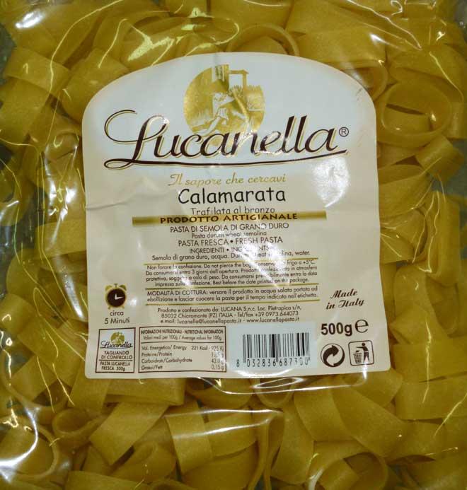свежая паста Calamarata (каламарата)
