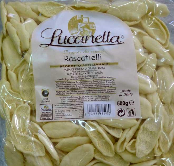 свежая паста Rascatielli (раскатьелли)