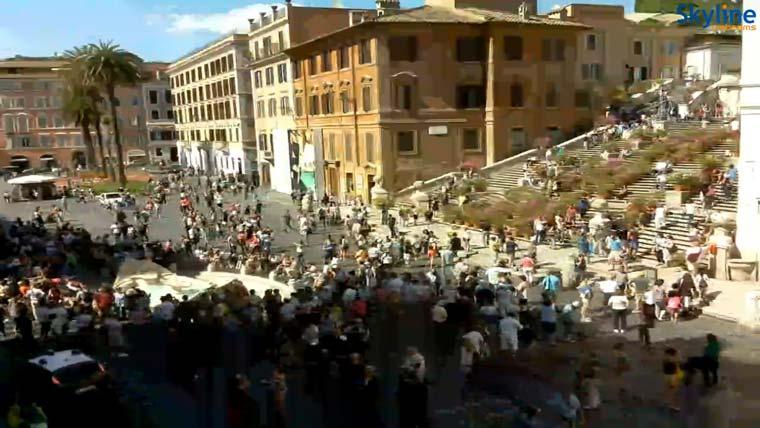 скриншот из веб камеры (Испанская Лестница)