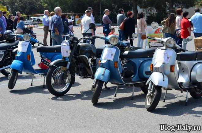 исторические мотоцыклы и скутеры в Скалее