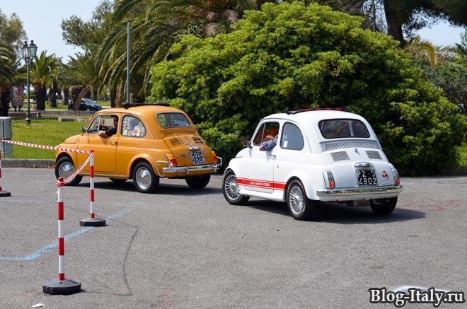 пробный заезд на Fiat 500 в Скалее