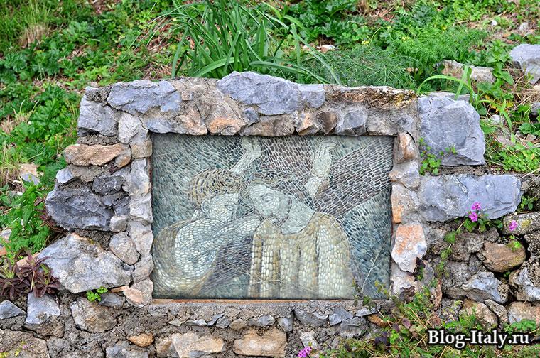 Мозаика с изображением Иисуса Христа
