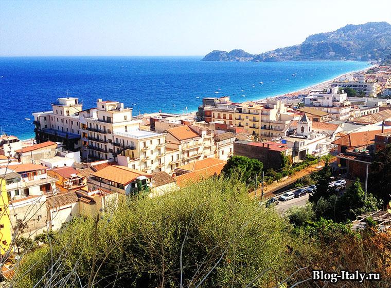 вид на море Сицилии