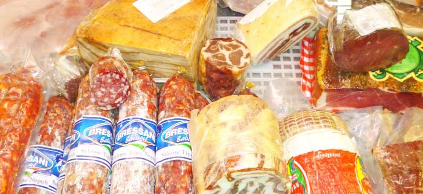 Колбасные изделия в Италии