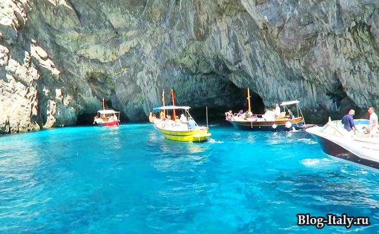 Голубой грот в Капри