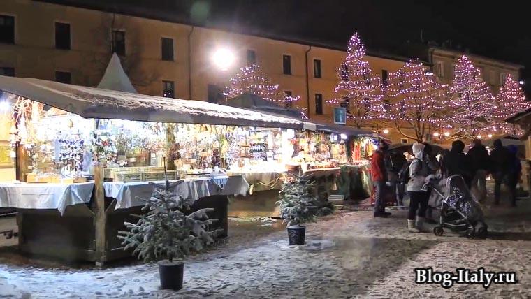 Рождественский рынок в Тренто