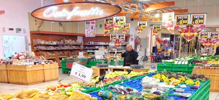 Предновогодние цены на продукты в Италии