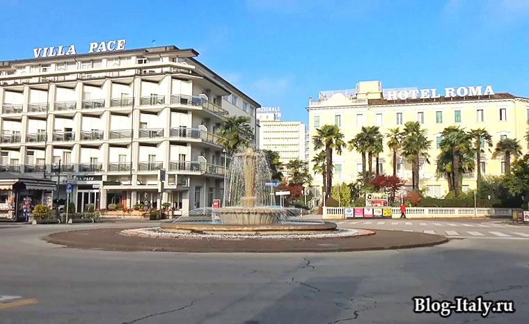 городская площадь города Абано-Терме