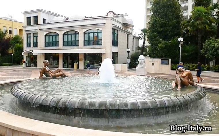 фонтан в городе Абано-Терме
