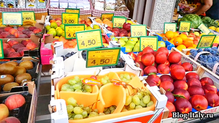 Абано-Терме цены на фрукты