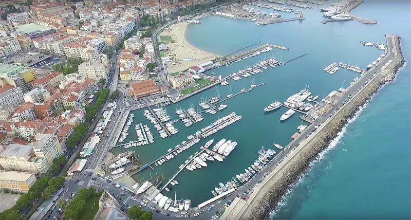Сан-Ремо порт, вид сверху