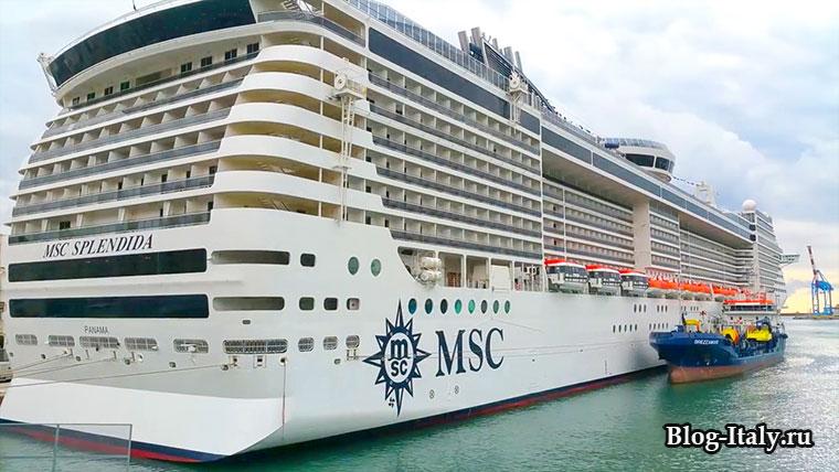 Круизный лайнер MSC-Splendida